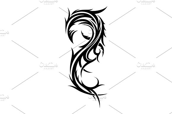 Abstract Tribal Tattoo Design Template