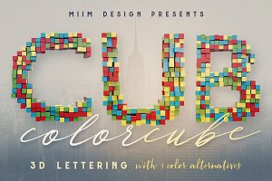 Color Cubes - 3D Lettering