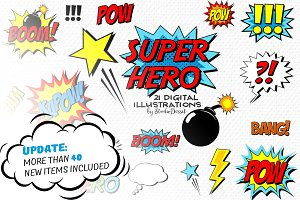 Super Hero - Comic Book Cliparts