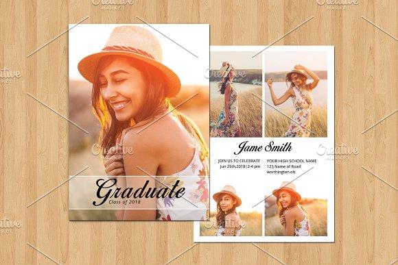 Graduation Announcement Card-V560