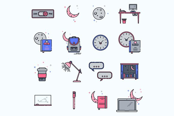 Evening Course Icons
