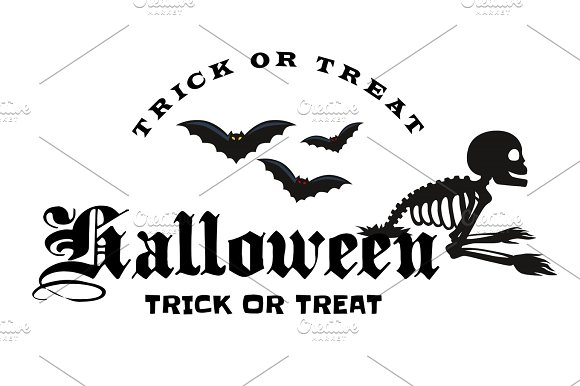 Set Of Happy Halloween Badges And Labels
