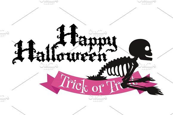 Happy Halloween Badge Or Label