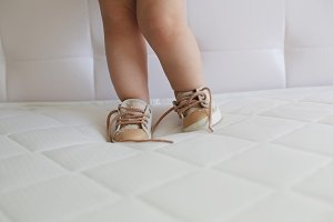 Feet of a small child