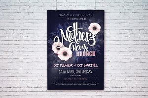 Mother's day event poster templates