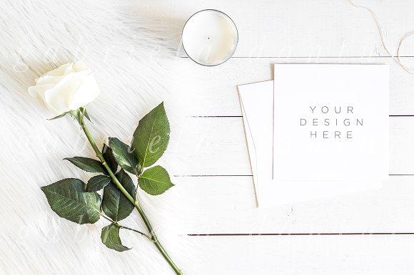 Download Square Wedding Invitation Mockup