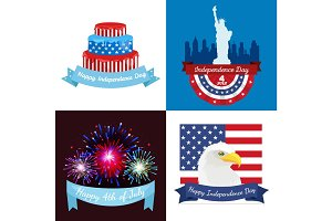 Happy fourth of july, Independence Day Vector Design illustration