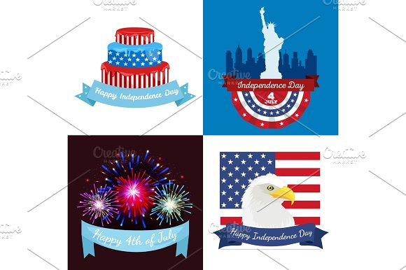 Happy Fourth Of July Independence Day Vector Design Illustration