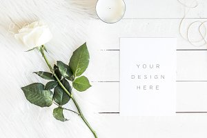 White Rose Smart Object Mockup