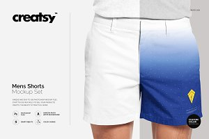 Mens Shorts Mockup Set