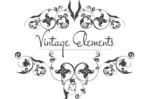 Hand Drawn Vintage Vector Flourishes