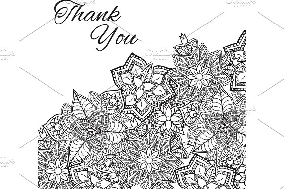 Henna Flowers Mehndi Design Vector Element With Text Place For Invitations And Cards