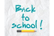 Back to school concept text on paper