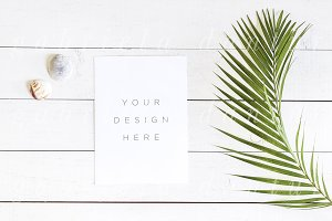 Tropical Palm Leaf Quote Mockup