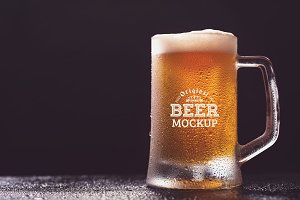 Beer Glass Mock-up#7
