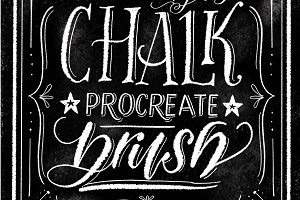 Chalk Procreate Lettering Brush