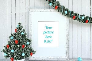 Christmas Decoration Mockup 8x10