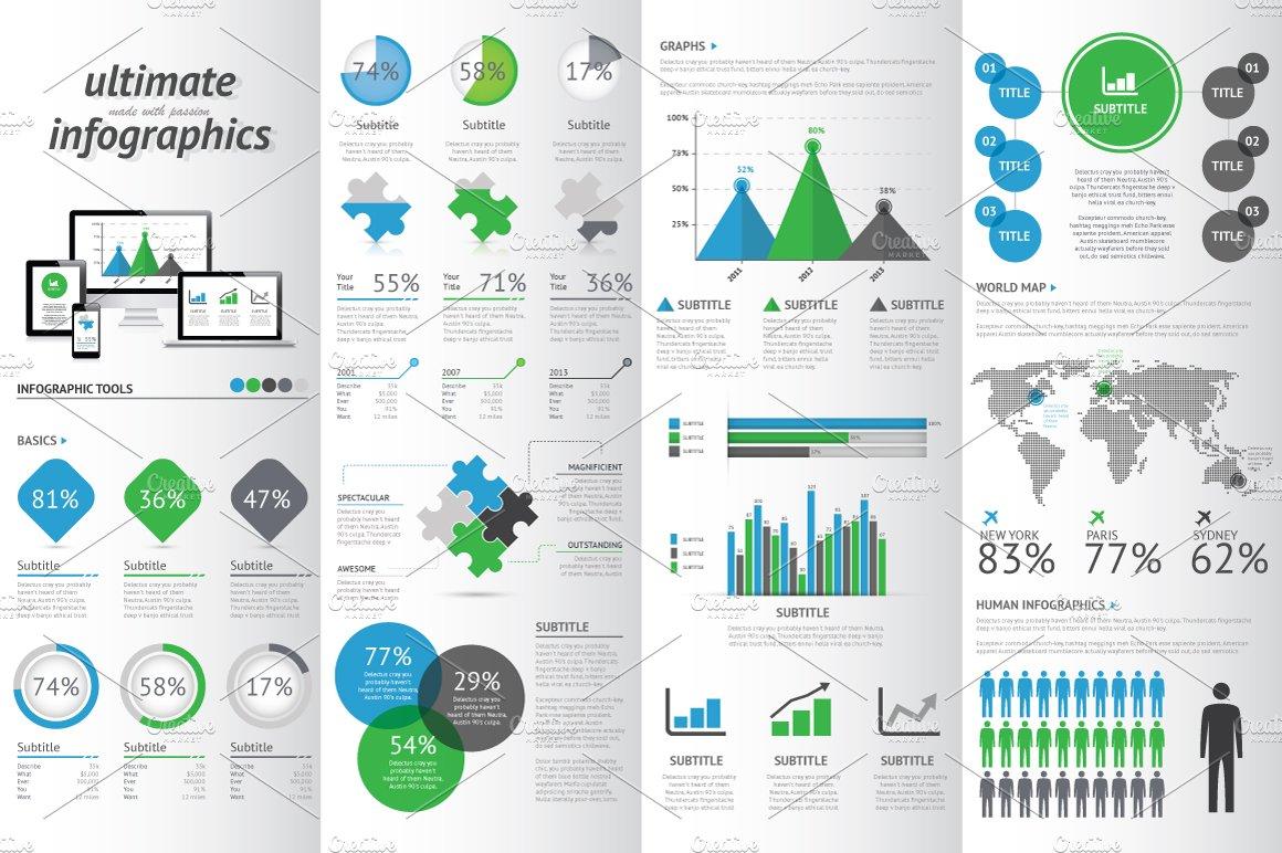 Modern infographic set illustrations creative market gumiabroncs Choice Image