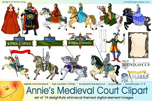 Annie's Medieval Court Clipart