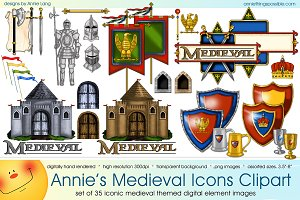 Annie's Medieval Icons Clipart