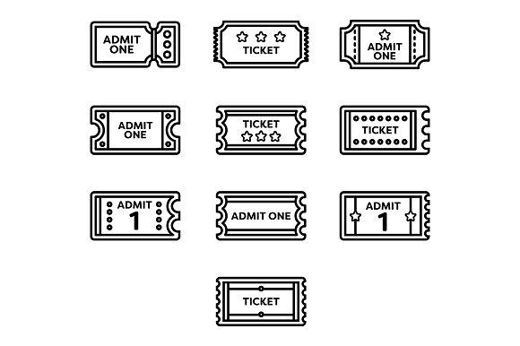 Raffel Tickets Icons