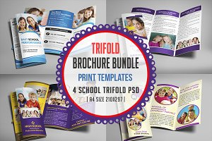 School Trifold Brochure Bundle