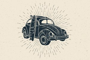 Surfmobile Vector Illustration