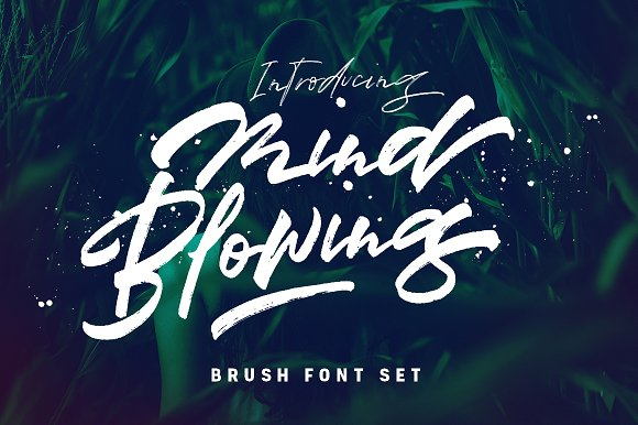 Mind Blowing 3 Brush Font Set 40%OFF