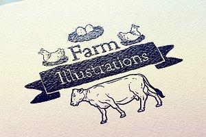 +40 Farm Illustrations