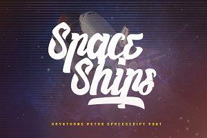 Haynthams Spacescript Font (2 in 1)