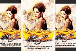 Extravaganza Party Flyer