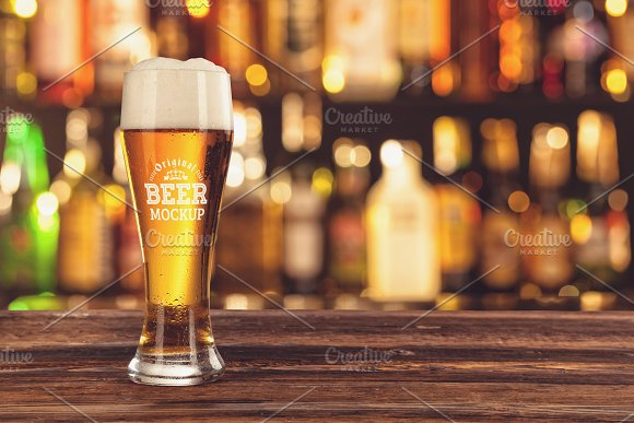 Beer Glass Bottle Mock#10