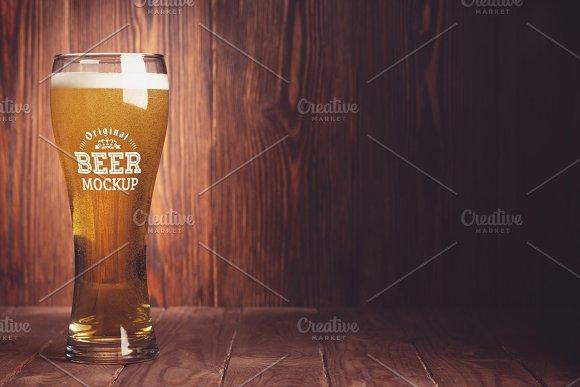Beer Glass Bottle Mock#11