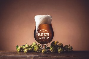 Beer Glass Mock-up#12