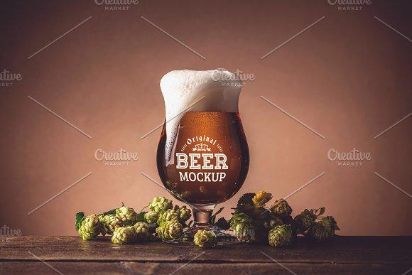 Beer Glass Bottle Mock#12