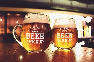 Beer Glasses Mock-up#13