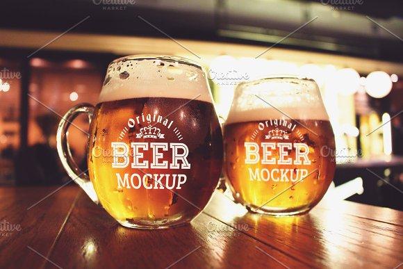 Beer Glass Bottle Mock#13