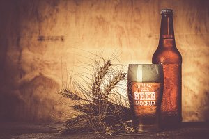 Beer Glass/Bottle Mock-up#8