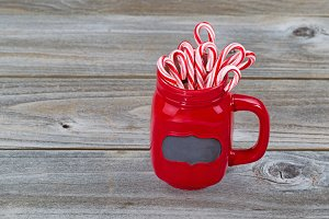 Holiday Cup filed with Candy Canes