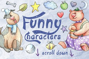 Funny Characters Set for Kids