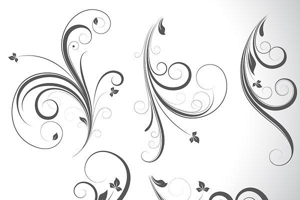 Swirls Vector Elements Designs