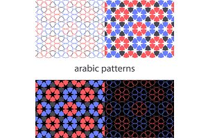 vector set arabic Background