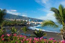 black sand beach, Tenerife, Spain