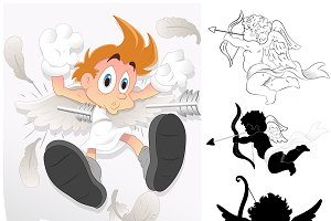 Cartoons Cupids Vectors