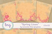 Spring Linen Scrapbook Papers