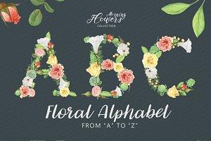 Floral Alphabet - Morning Flowers