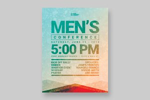 Men's Event Flyer Template