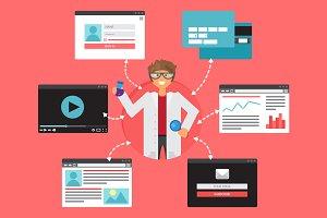 Online Popular Science Concept