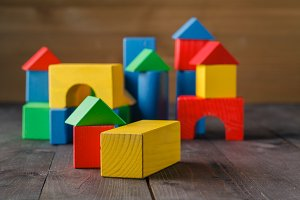building from wooden blocks