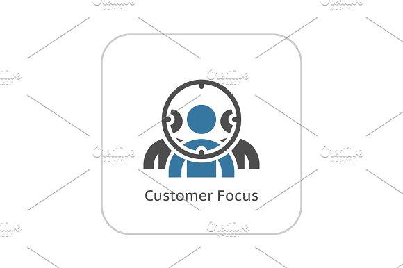 Customer Focus Icon Flat Design
